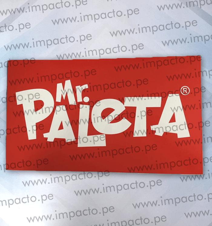 Paleta Flanger Poliestireno Publicidad Merchandising