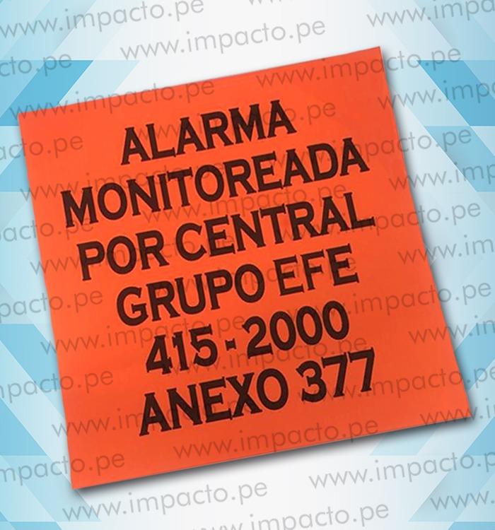 Sticker Alarma