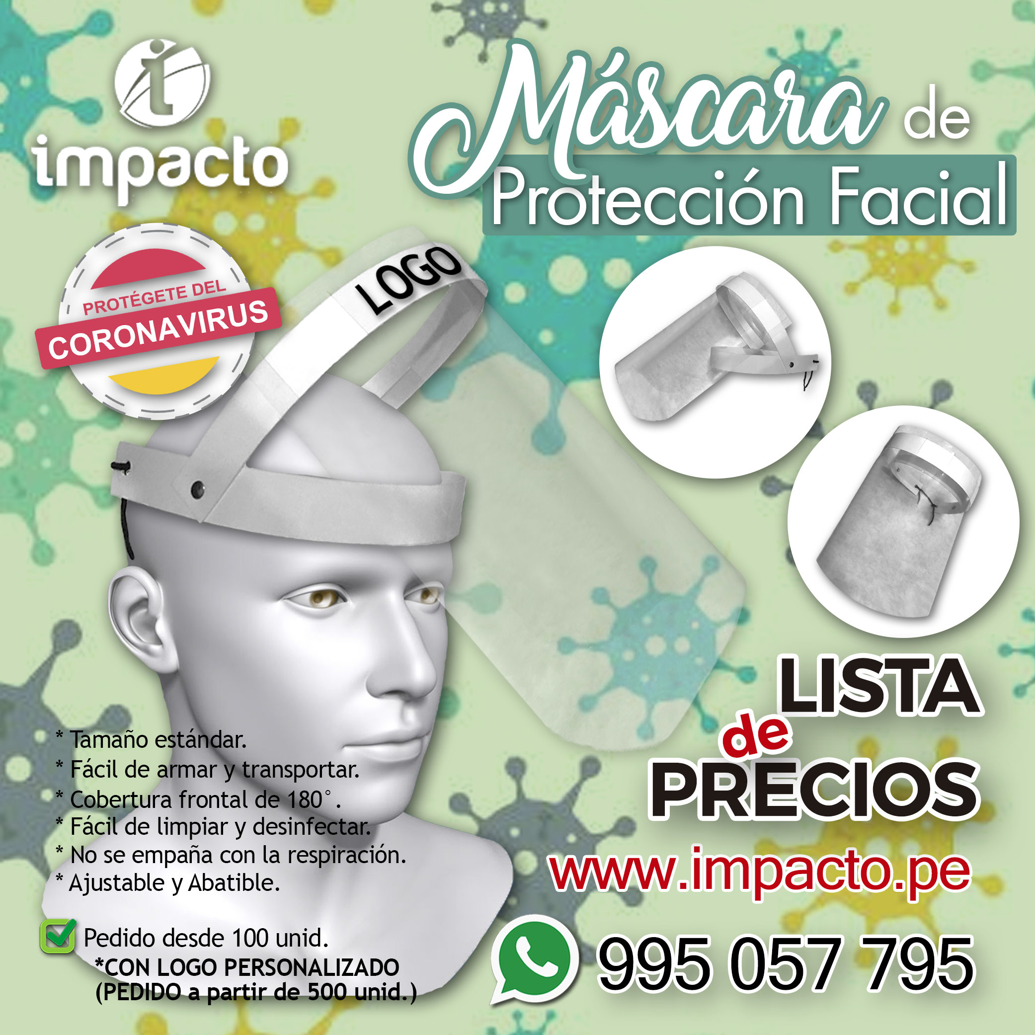 Mascara de proteccion facial